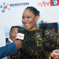 Mrs. Roseline Sanni-Ajose at première of Shameful Deceit showing support.