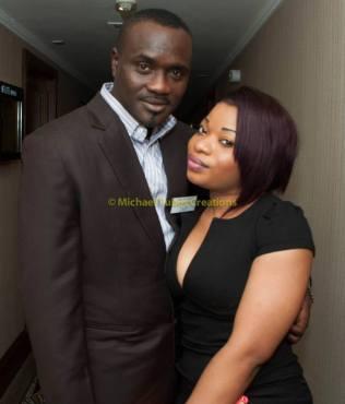Mr. Femi Fadeyi and Miss Olivia Eze at Labo press Conference