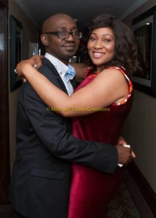 Mr & Mrs Sanni-Ajose at press conference of Labo